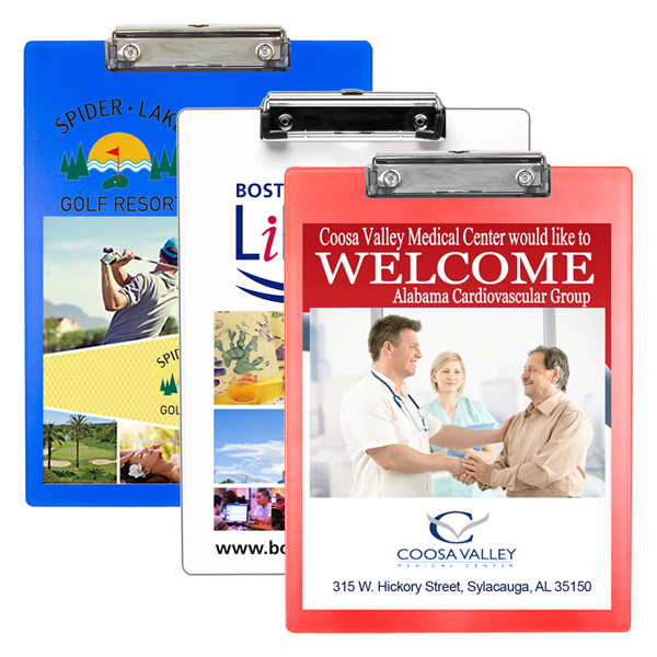 Letter Size Clipboard with 4 Color Process and Metal Clip | George
