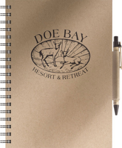 Eco Books - Medium Note Book w/ Eco Port & Pen